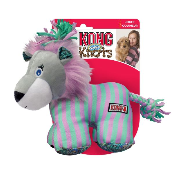 KONG Leksak Knots Carnival Lion Lila S/M