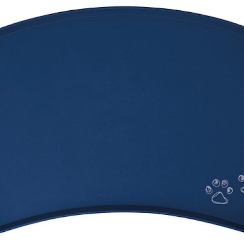 Matskålsunderlägg, silikon, 48 × 27 cm, blå