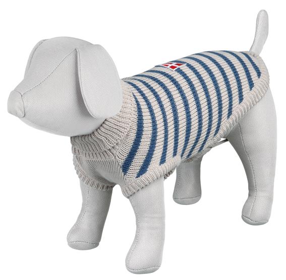 Milton pullover, grey/blue