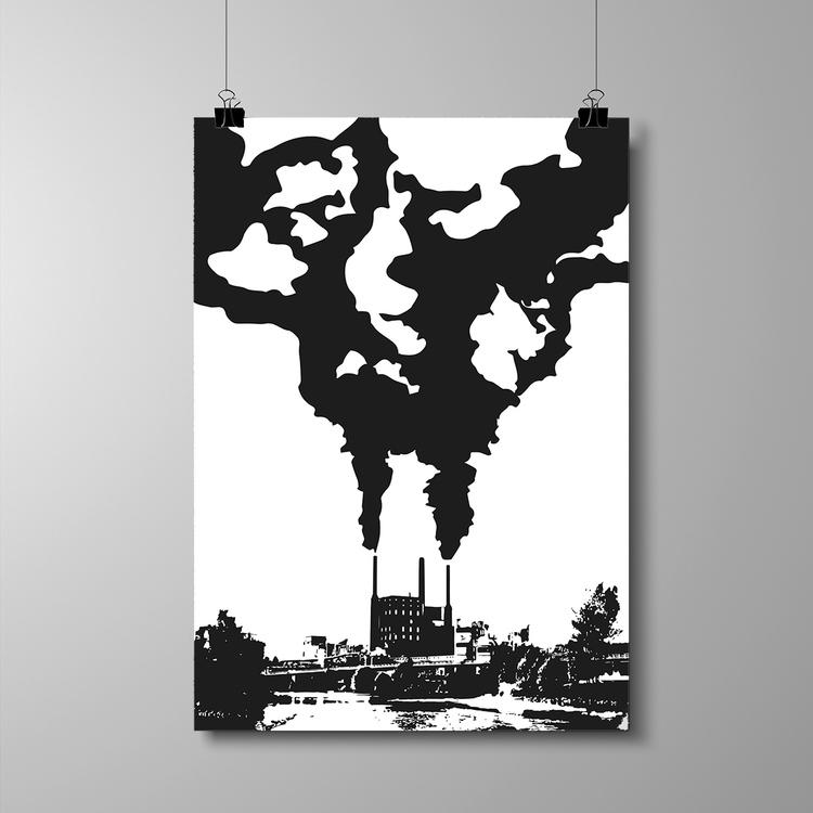 "Poster 50x70 cm - ""Fabriken"" - NYHET!"