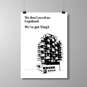 "Poster 50x70 cm - ""We've got Ting1"""