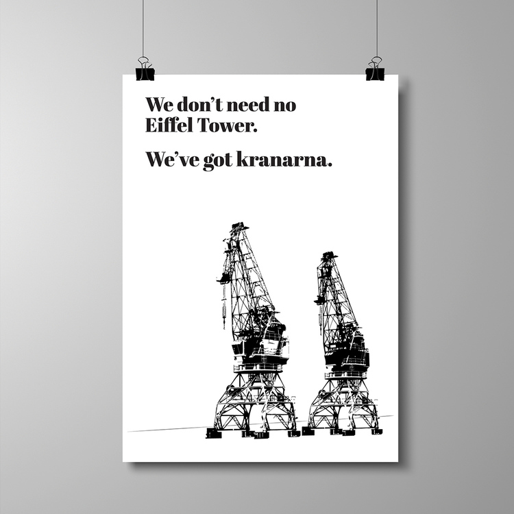 "Poster A3 - ""We've got kranarna"""