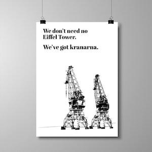 "Poster A3 - ""We've got kranarna"""