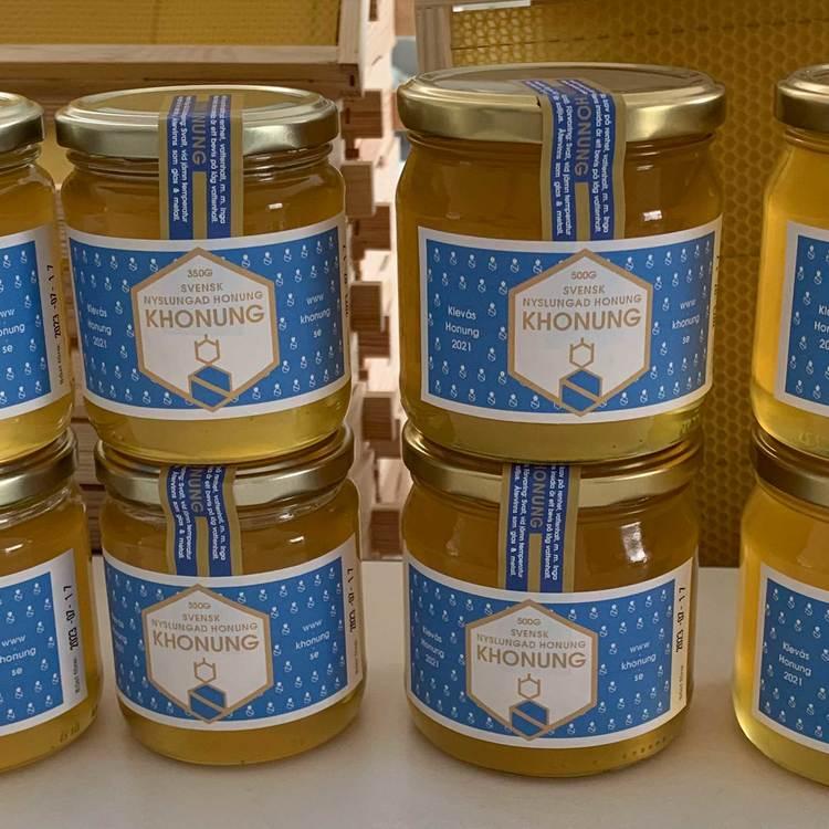 Nyslungad honung 2021 (Vitklöverhonung)