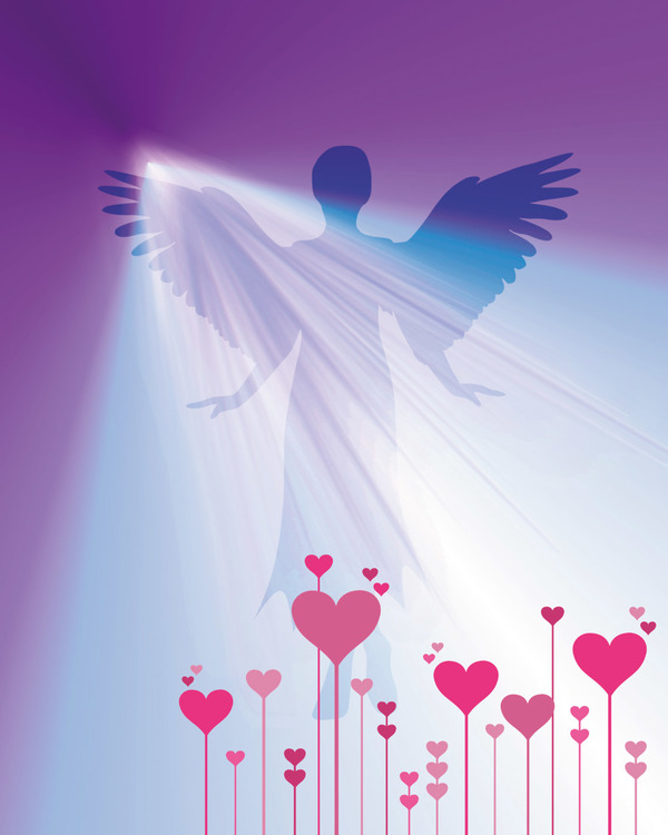 "Graphic Art ""Angel Heart Light"""