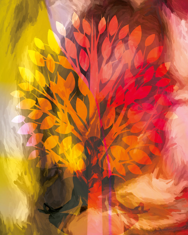 "Graphic Art ""Autumn meditation"""