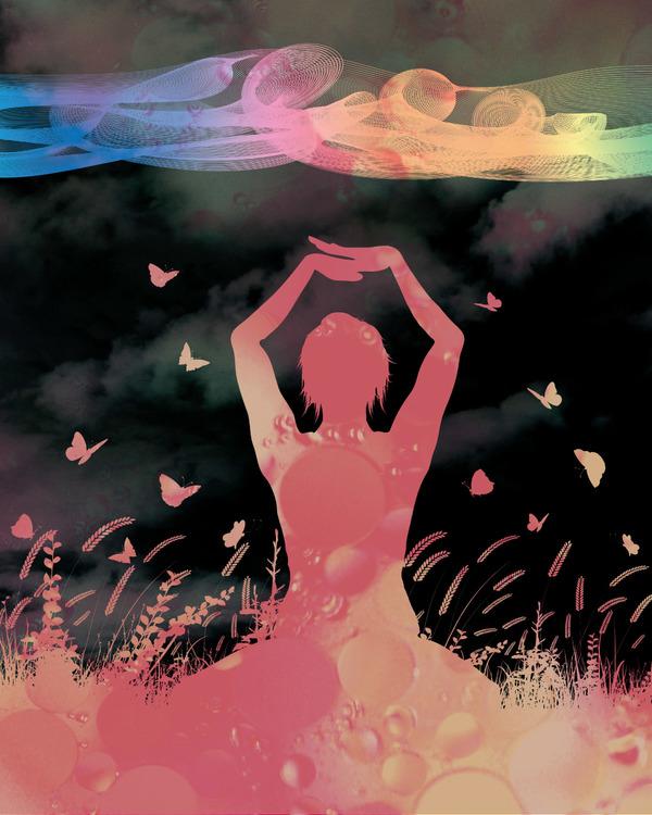 "Graphic Art ""The rainbow of the night"""