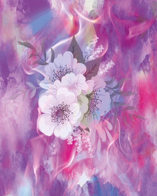 "Graphic Art ""Magic flower"""