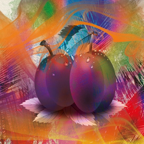 "Graphic Art ""Colored fruits"""
