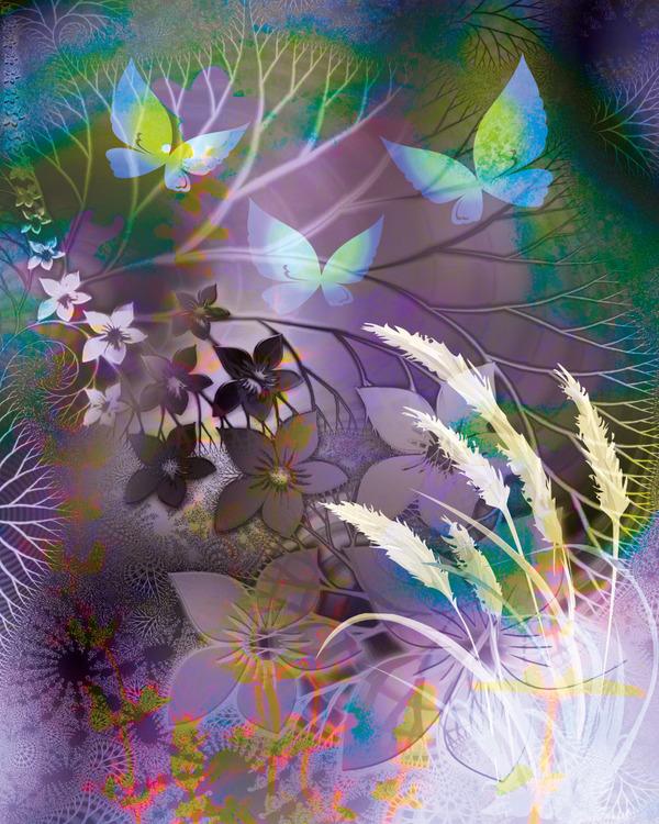 "Graphic Art ""Purple fantasy forest"""