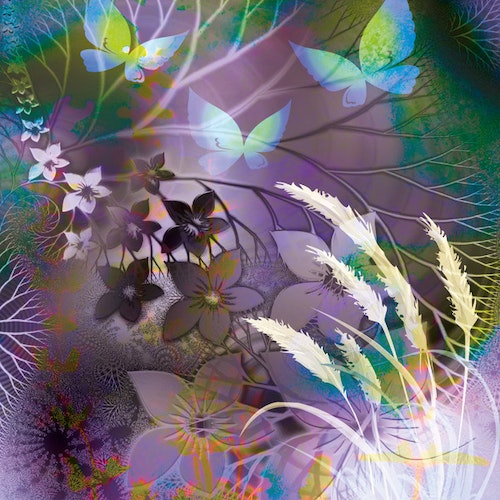 "Graphic Art ""Purple fantasy forest"""