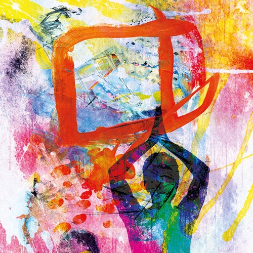 """Graphic Art """"Meditation in a colorful abstract world"""""""