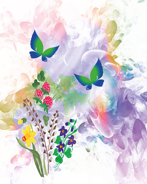 """Graphic Art """"Spring is here"""""""
