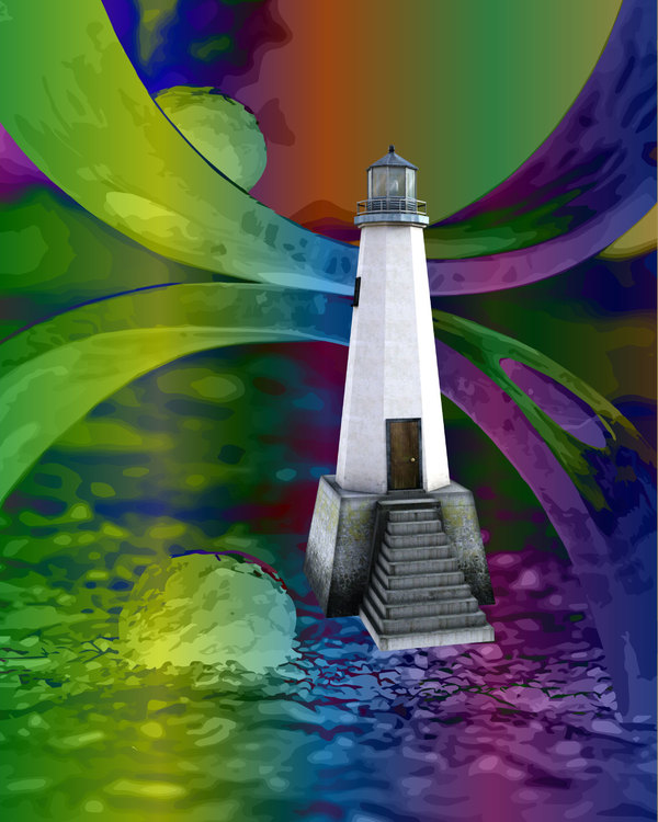 """Graphic Art """"The light shows the way home"""""""