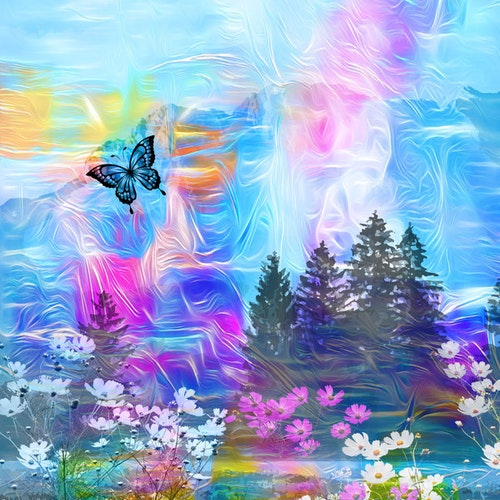 """Graphic Art """"The energy giving power of nature"""""""