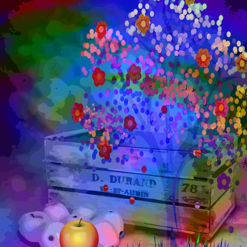 """Graphic Art """"Life grows and bears fruit"""""""
