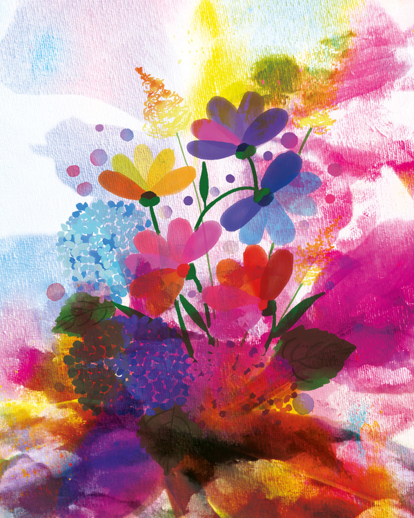 """Graphic Art """"A bouquet of life for life"""""""