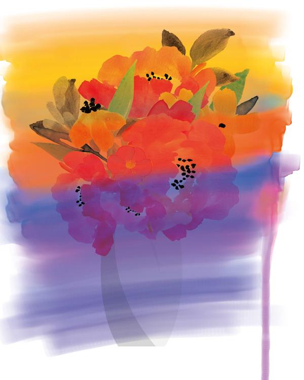 "Graphic Art ""Love in beautiful colors"""
