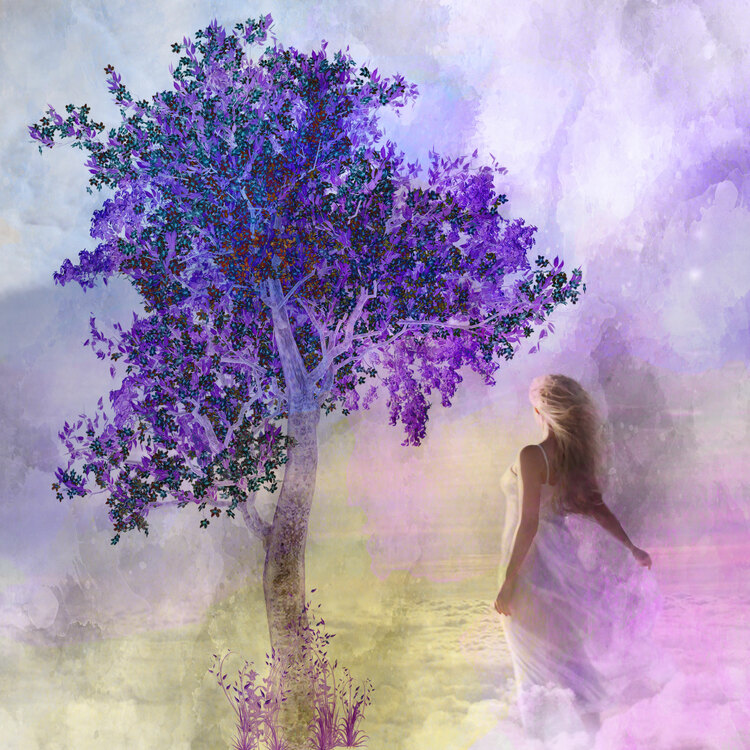 """Graphic Art """"Girl in paradise"""""""