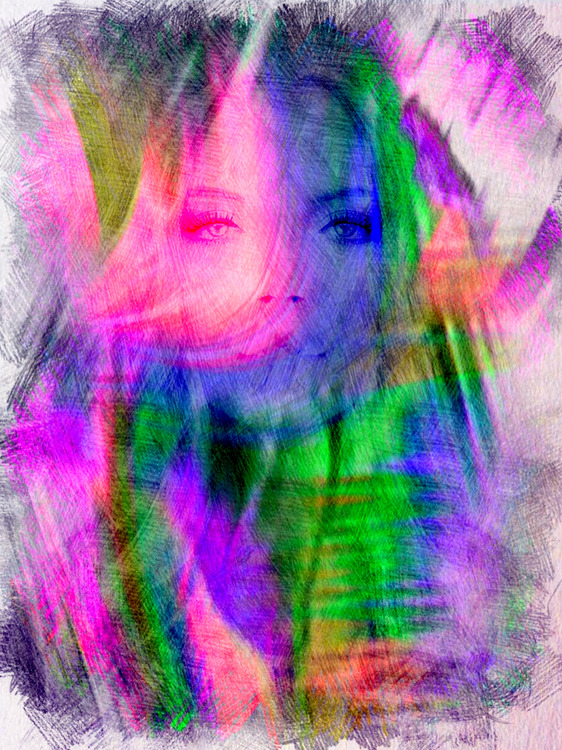 """Graphic Art """"The colorful view"""""""