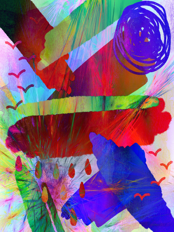 """Graphic Art """"An abstract and playful world"""""""