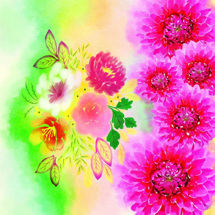 "Graphic Art ""My own bouquet"""
