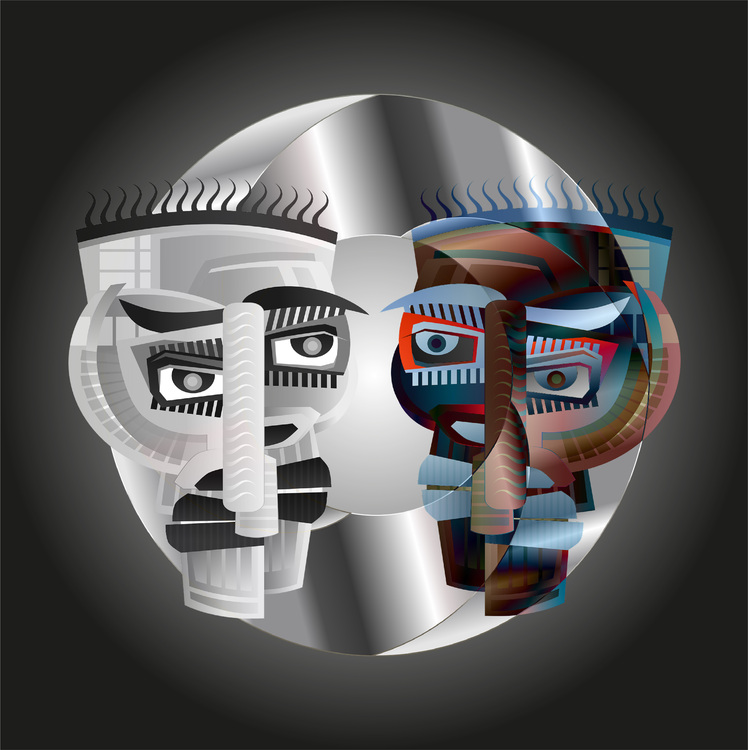 """Graphic Art """"The double-sided man"""""""