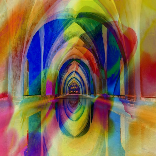 """Graphic Art """"The road to the end goal of life"""""""
