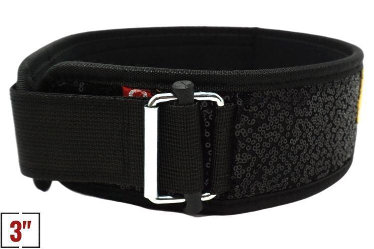"3"" Petite Black Magic (Sparkle) Straight Weightlifting Belt"