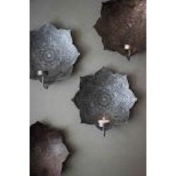Mandala väggljusstake brons