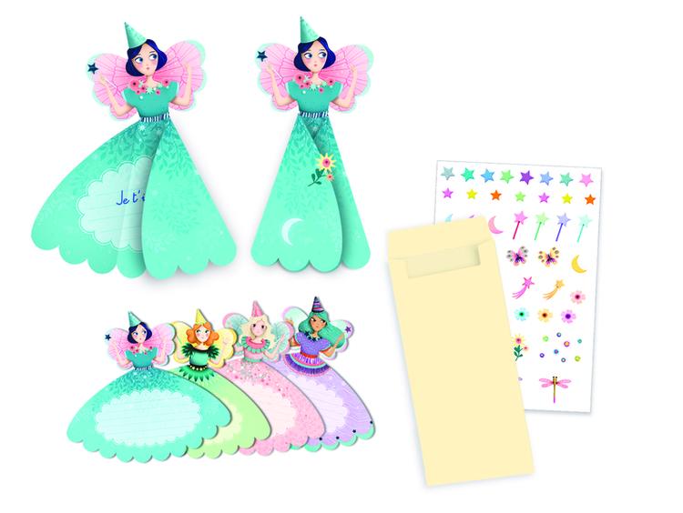 Djeco - Inbjudningskort - Fairies