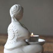 Värmeljushållare Curvy Yoga