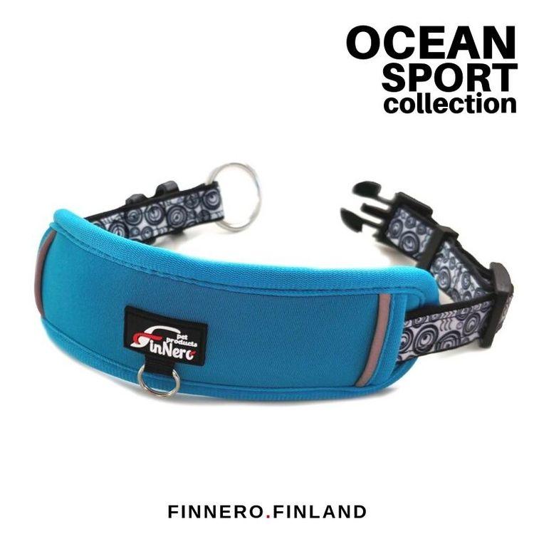 FinNero - OCEAN SPORT ADJUSTABLE COLLAR Turkos