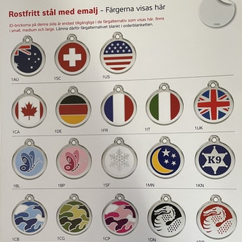 RedDingo ID-brickor - pris inkl. frakt