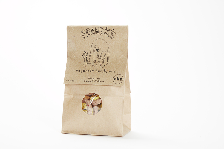 Frankie's minipizza banan och rödbeta