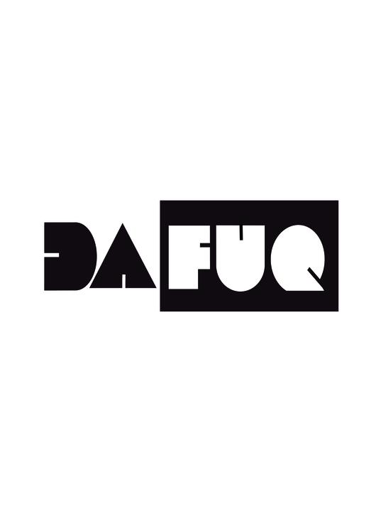Dafuq hoodie (white)