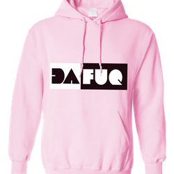 Dafuq hoodie (pink)