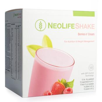 NeoLifeShake Berries n' Cream, måltidsersättande proteinshake, bär