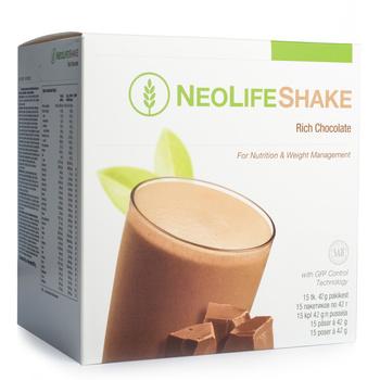 NeoLife Shake Rich Chocolate, måltidsersättande proteinshake, choklad (En utsökt shake för daglig näring och viktkontroll
