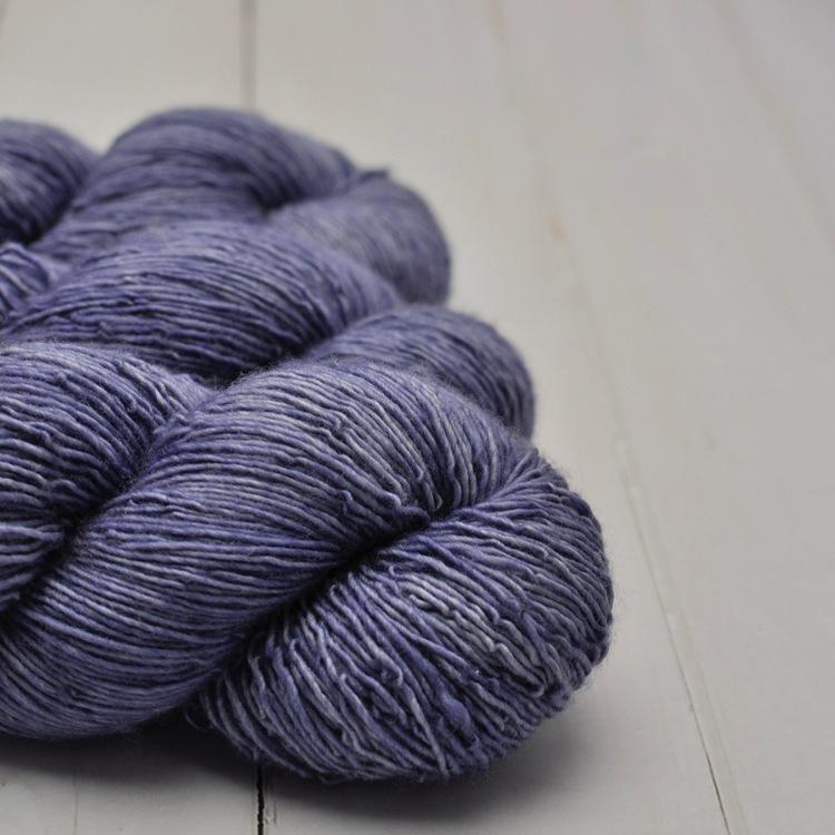 Merino Single - Jeansblå