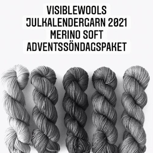 Garnkalender 2021 - Merino Soft 5 st 100g härvor i paket