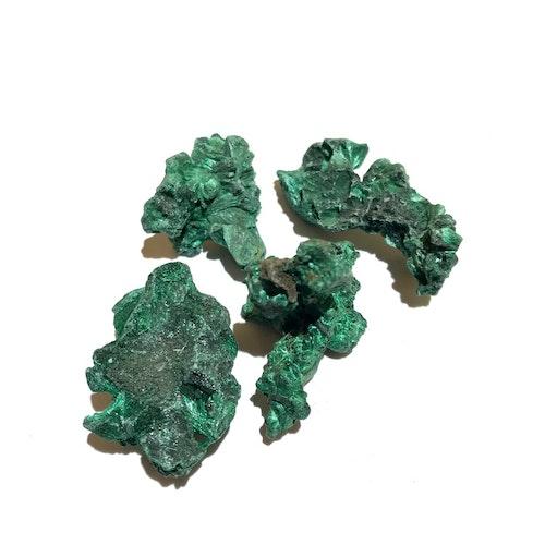 Malakit, kristallinsk