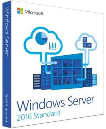 Microsoft Windows Server 2016 Standard 16 kjerner EN (64-bit OEM)