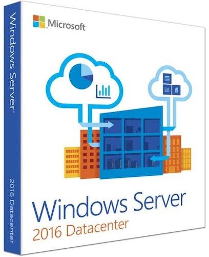 Microsoft Windows Server 2016 Datacenter 16 kjerner NO (64-bit OEM)