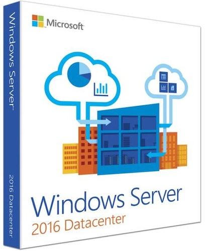 Microsoft Windows Server 2016 Datasenter 16 kjerner EN (64-bit OEM)