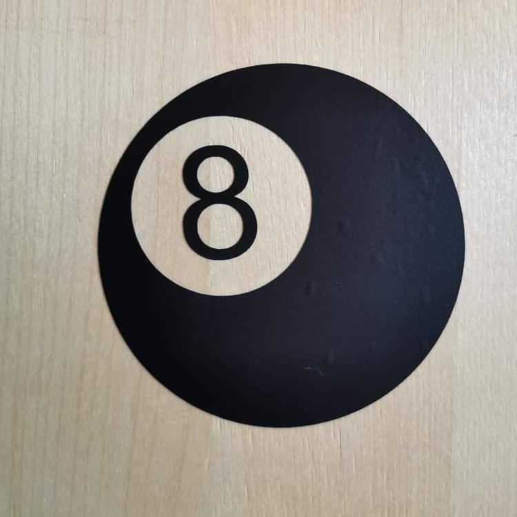 """Vinyldekor """"Biljardboll 8"""""""