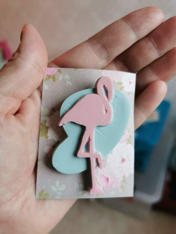 Brosch Flamingo Liten