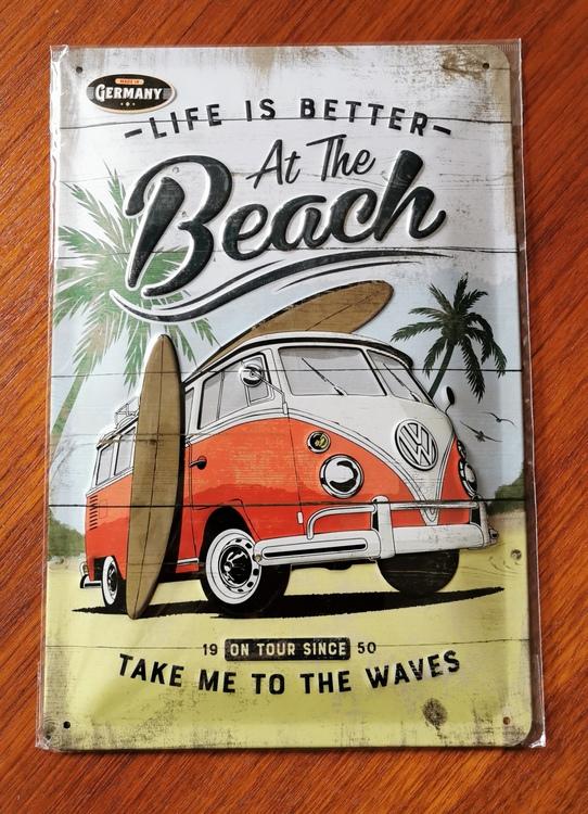 """Plåtskylt """"Life is Better at the Beach"""""""