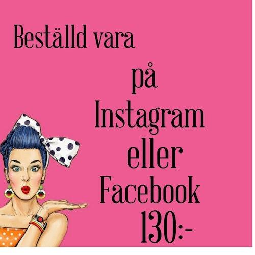 För beställd vara från Instagram eller Facebook
