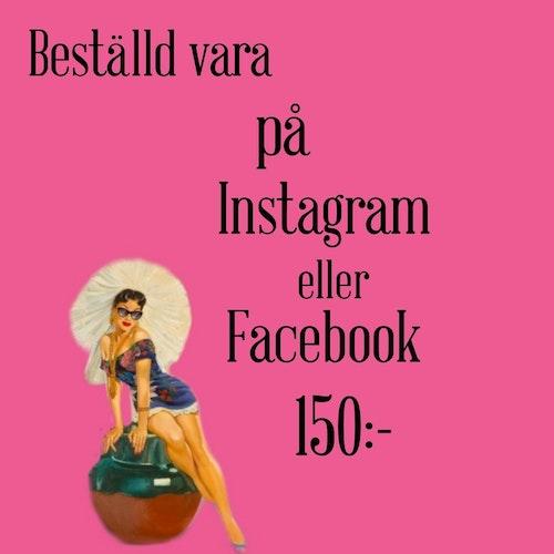Beställd vara från Instagram eller Facebook